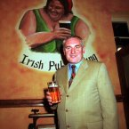 Bertie Ahern pictured in an Irish pub in Beijing in 1998. He served as Taoiseach from 1997 until his resignation in May 2008 in the wake of revelations made in the Mahon Tribunal. 