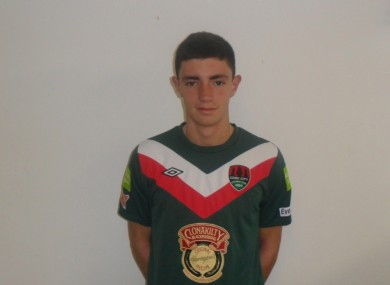Lenihan in the Cork City shirt.