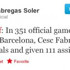 Cesc Fabregas doesn't like to gloat, but...