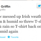 When he's not making observations about the weather, Colin Griffin is usually discussing preparations for that most unique of Olympic sports - walking.