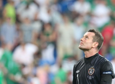 Shay Given: conceded nine goals at Euro 2012.