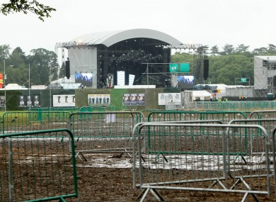 A general view of the concert site at the Phoenix Park the day after the Swedish House Mafia concert