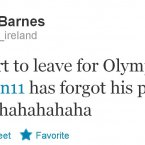 Paddy Barnes's colleague makes a rookie mistake.