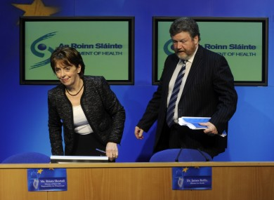 Relations between Roisin Shortall and James Reilly are thought to have become strained since their appointment 16 months ago.