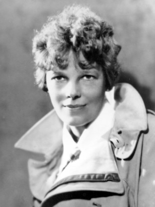 An undated photo of Amelia Earhart