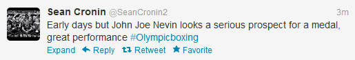 Cronin tweet on Nevin