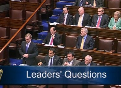 Taoiseach Enda Kenny speaking in the Dáil this afternoon
