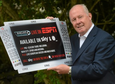 Liam Brady pictured at the launch of ESPN's coverage of the 2012/2013 football season in Dublin yesterday.