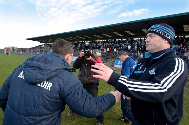 Anthony Daly shakes hands with Davy Fitzgerald 13/2/2011