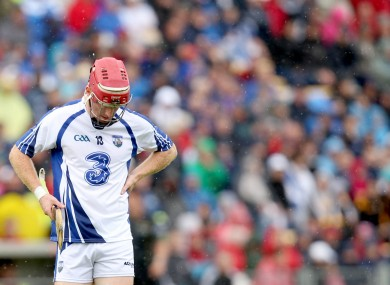 Waterford's John Mullane dejected after the game.