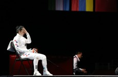 South Korean fencer in sit-down protest after loss