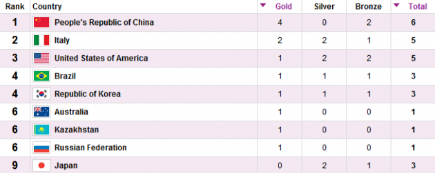Medal table 2