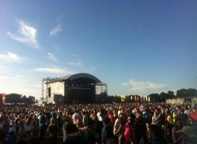 Tinie Tempah played the event earlier in the day at the Phoenix Park