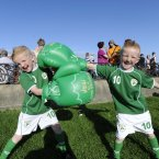 Robert and Troy Mulligan from Crumlin. Photo: Sasko Lazarov/Photocall Ireland