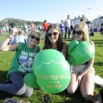 Niamh Small, Dara Broe and Tara Jameson from Wicklow town are pictured in Bray yesterday. Photo: Sasko Lazarov/Photocall Ireland
