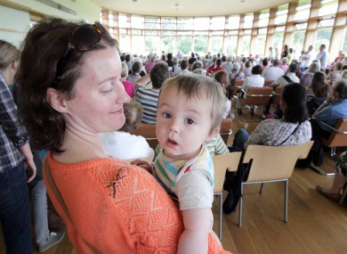 Lara Visser and nine-month-old son Ciaran from Drumcondra at the Botanic Gardens