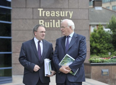 Chief executive of NAMA Brendan McDonagh and chairman Frank Daly (File photo)