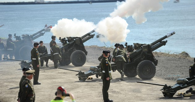 In pictures: Defence Forces' 21-gun salute to the Tall Ships