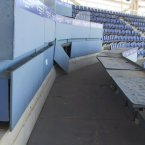 The stands are falling apart.