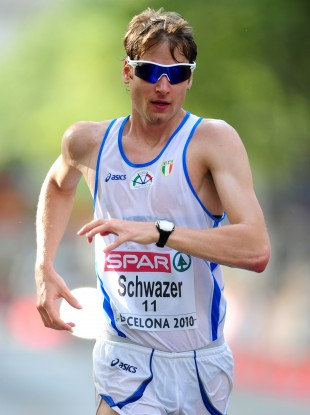 Alex Schwazer competes at the European Championships in 2008.