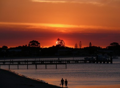 Sunset at Rockingham Beach, Perth, Western Australia