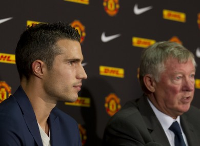 Van Persie is unveiled by United last week. 