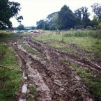 @ConThomson tweeted this weekend: Car got stuck in the mud at Castlepalooza. Dragged out by a tractor!