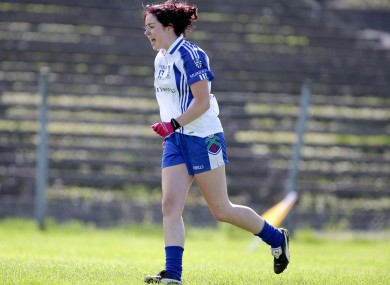 Monaghan's Cathriona McConnell celebrates scoring one of three goals on Saturday.