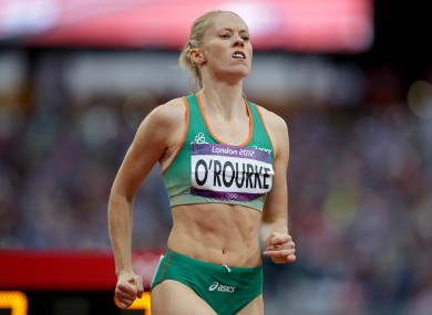 Ireland's Derval O'Rourke after fininshing in 5th place in the Women's 100m Hurdles Semi-Final.