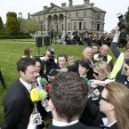 Site owner Thomas Cosby meets the press during a media preview of Electric Picnic 2012. (Photo: Alf Harvey)