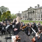 Karen Crowley and the Trinity orchestra performing. (Photo: Alf Harvey)