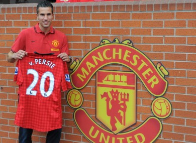 Robin van Persie at the Theatre of Dreams today.