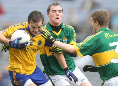 Kerry's Greg Horan and Gavin Crowley with Ultan Harney of Roscommon