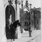 Standing guard at the Abdin Palace of the Khedive of Egypt in Cairo. (Library of Congress, Prints & Photographs Division)