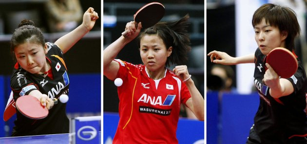 Japanese table tennis players make history