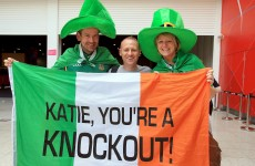 In pictures: Ireland's fight fans turn the ExCel Arena green ahead of Katie's gold run