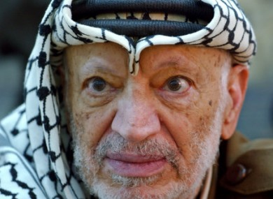 A 2004 file photo of Yasser Arafat.