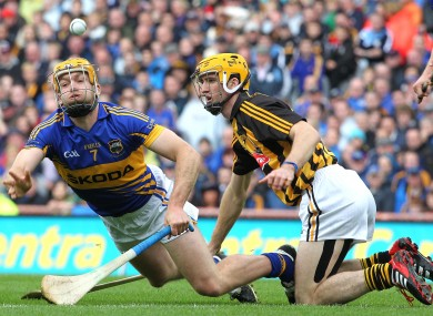 Tipperary's Padraic Maher and Colin Fennelly of Kilkenny in last year's All-Ireland final.