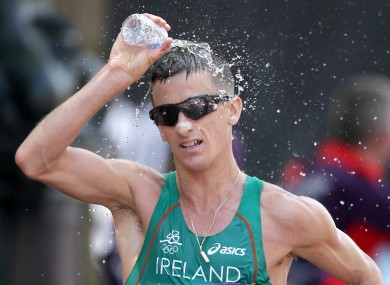 Rob Heffernan finished fourth in the Men's 50km Race Walk.