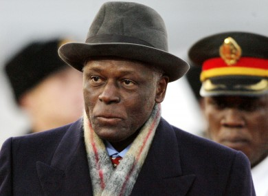 Angolan President Jose Eduardo dos Santos expressed his sorrow following the crash.
