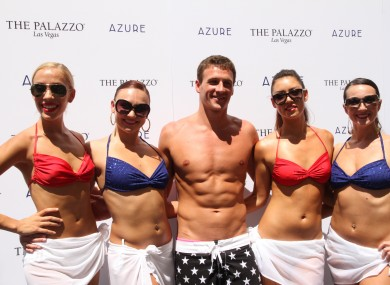 Ryan Lochte at 'Azure' pool at The Palazzo Hotel and Casino, Las Vegas.