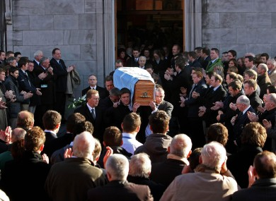 Image from the funeral mass of the 28-year-old rugby player.