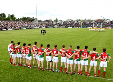 The Mayo team has been announced for next Saturday's meeting with Down.