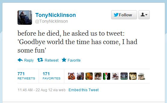 Tony Nicklinson tweet