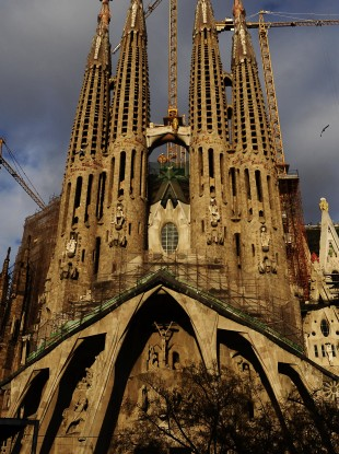 Gaudi's Sagrada Familia church in Barcelona, Catolonia in Spain.