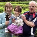 Young Person of the Year, 16-year-old Joanne O'Riordan from Cork with her parents Anne and Joe.  Image: Mark Stedman/Photocall Ireland