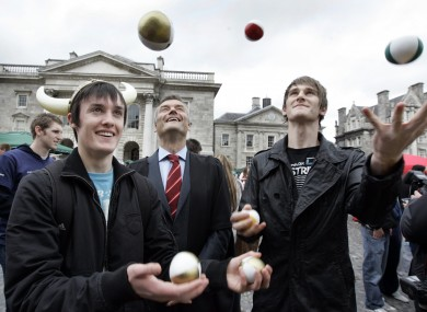Students mark Freshers Week at Trinity College last year: TCD remains Ireland's top-ranked university; Ireland still has three institutions in the top 200.