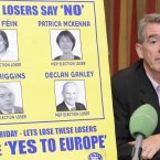 Ryanair's Michael O'Leary hosts his last political press conference on Lisbon. Photo: Sasko Lazarov/Photocall Ireland!