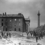 The shell of the GPO on Sackville Street (later O'Connell Street), Dublin in the aftermath of the 1916 Rising.