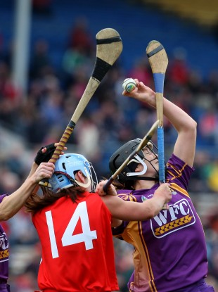 Scenes from this year's Camogie League Final between Wexford and Cork